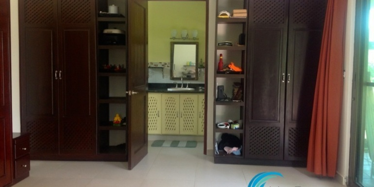 closets and bathroom entry