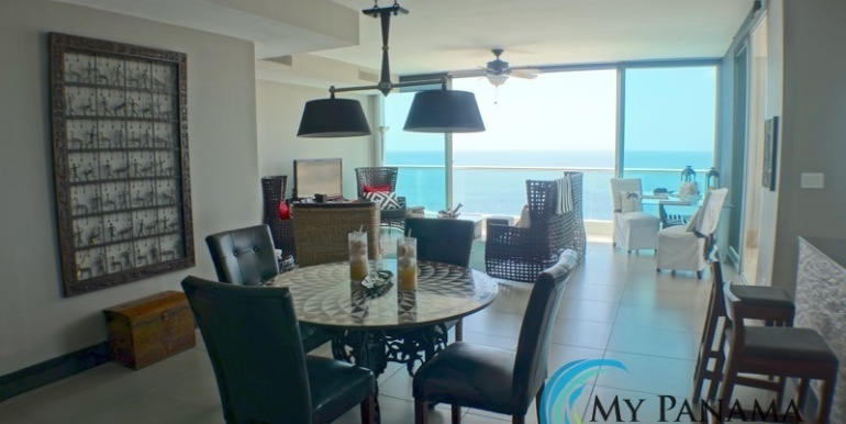 For-Sale-Condo-RioMar-Panama-Dining towards balcony